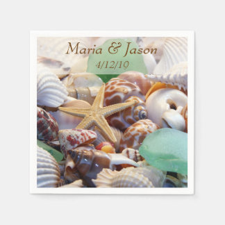 Seashells Custom Napkins Disposable Serviette