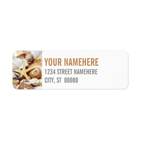 Seashells Custom Return Address Label