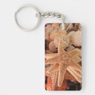 Seashells for sale Zihuatanejo, Mexico Double-Sided Rectangular Acrylic Key Ring