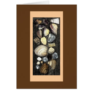 Seashells galore!  (note card) card