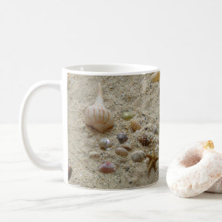 Seashells In Beach Sand Coffee Mug