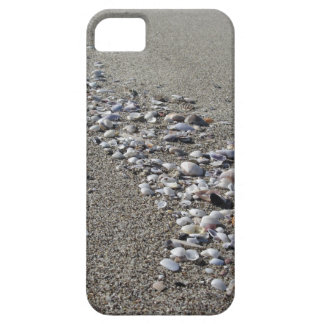 Seashells on sand. Summer beach background iPhone 5 Covers