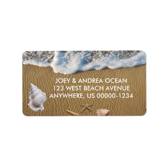 Seashells on the Beach Address Label