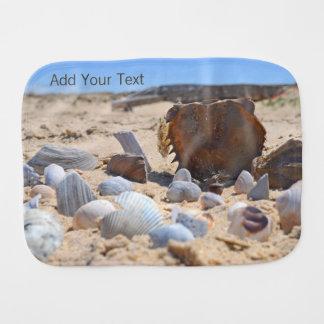 Seashells on the Beach by Shirley Taylor Burp Cloth
