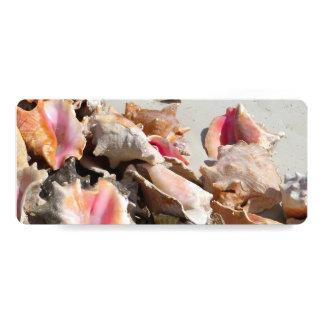 Seashells on the Beach | Turks and Caicos Photo Customized Invitation Cards