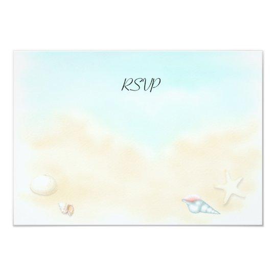 Seashells on the Beach  Wedding RSVP Card