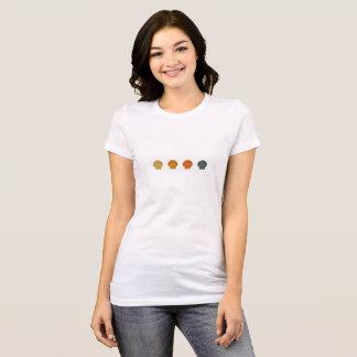 Seashells Pattern - Colorful Scallop Shells T-Shirt