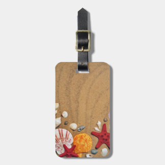 Seashells Starfish Sandy Beach Luggage Tag