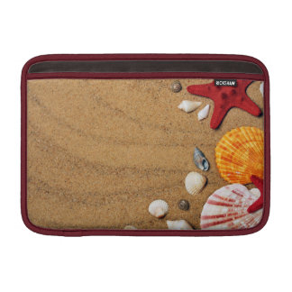 Seashells Starfish Sandy Beach Sleeve For MacBook Air