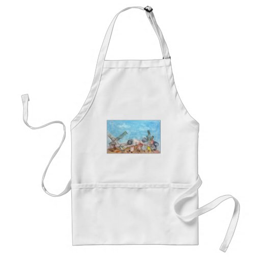 Seashells Under The Sea. Apron