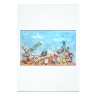 Seashells Under The Sea. Personalized Announcement