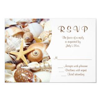 Seashells Wedding RSVP Card