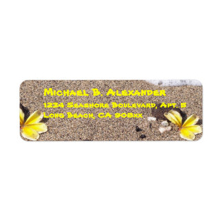 Seashore and Shells Return Address Label