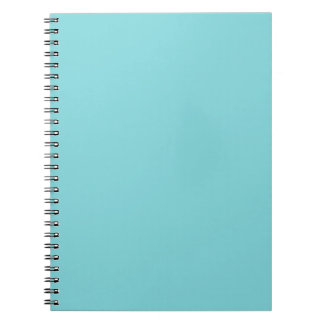 Seashore Blue Personalized Aqua Teal Background Notebook