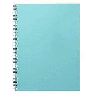 Seashore Blue Personalized Aqua Teal Background Notebook