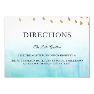 Seashore - Directions Card