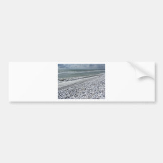 Seashore of a beach in a cloudy day at summer bumper sticker