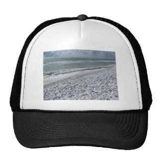 Seashore of a beach in a cloudy day at summer cap