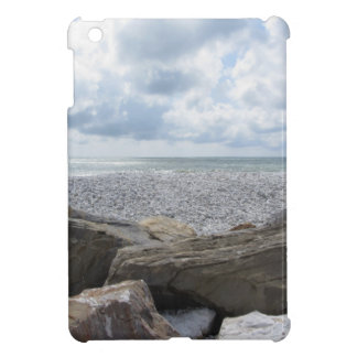 Seashore of a beach in a cloudy day at summer iPad mini cover