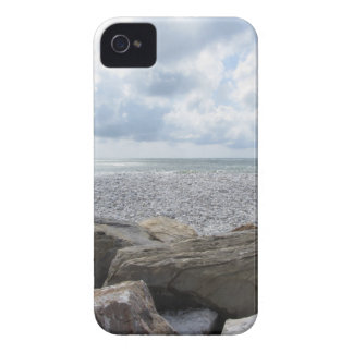 Seashore of a beach in a cloudy day at summer iPhone 4 case