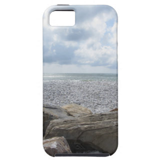 Seashore of a beach in a cloudy day at summer tough iPhone 5 case