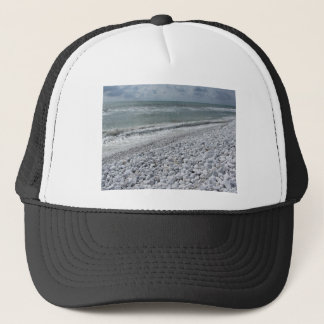 Seashore of a beach in a cloudy day at summer trucker hat