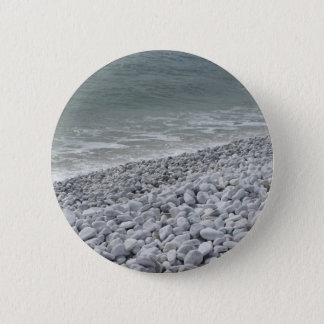 Seashore of beach in a cloudy day at summer 6 cm round badge