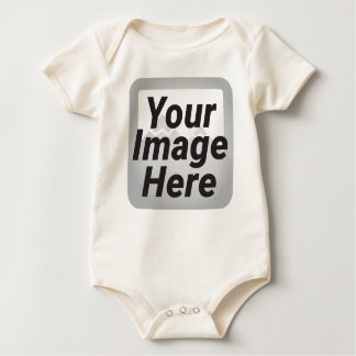 Seashore of beach in a cloudy day at summer baby bodysuit