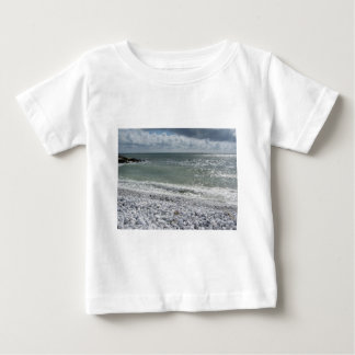 Seashore of beach in a cloudy day at summer baby T-Shirt