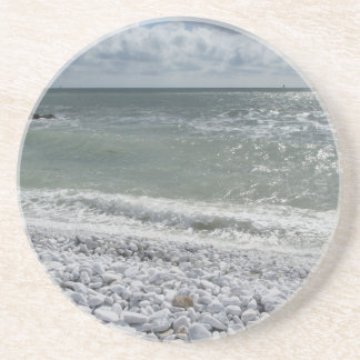 Seashore of beach in a cloudy day at summer coaster
