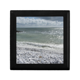 Seashore of beach in a cloudy day at summer gift box