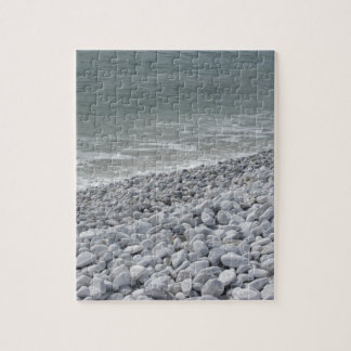 Seashore of beach in a cloudy day at summer jigsaw puzzle