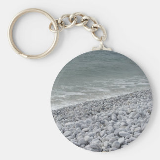 Seashore of beach in a cloudy day at summer key ring