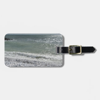 Seashore of beach in a cloudy day at summer luggage tag
