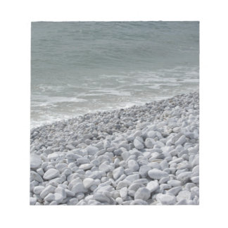 Seashore of beach in a cloudy day at summer notepad