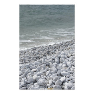Seashore of beach in a cloudy day at summer personalised stationery