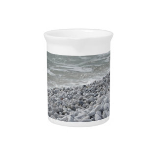 Seashore of beach in a cloudy day at summer pitcher