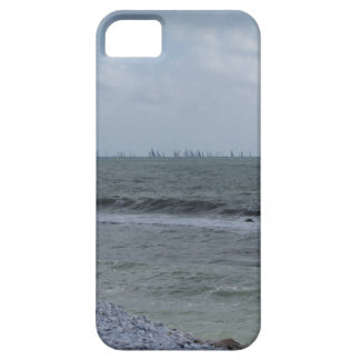 Seashore of beach with sailboats on the horizon iPhone 5 covers