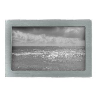 Seashore of Marina di Pisa beach in a cloudy day Rectangular Belt Buckle