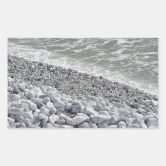 Seashore of Marina di Pisa beach in a cloudy day Rectangular Sticker