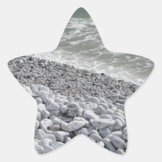 Seashore of Marina di Pisa beach in a cloudy day Star Sticker