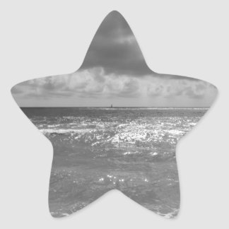 Seashore of Marina di Pisa beach in a cloudy day Star Sticker