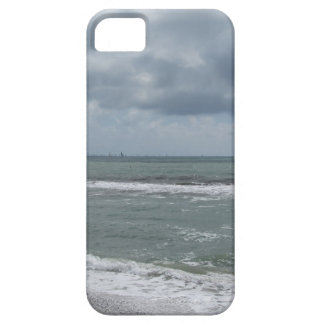 Seashore of Marina di Pisa beach with sailboats iPhone 5 Covers