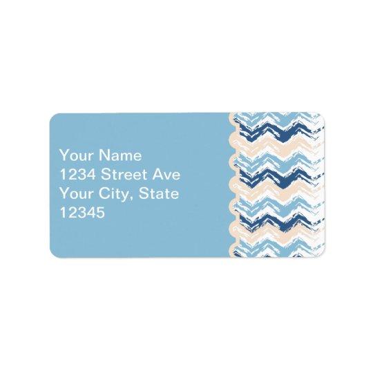 Seashore Scribble ZigZag Label
