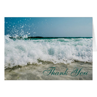 Seashore Seascape Memorial Service Thank You Card