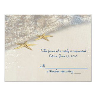 Seashore Starfish RSVP Card