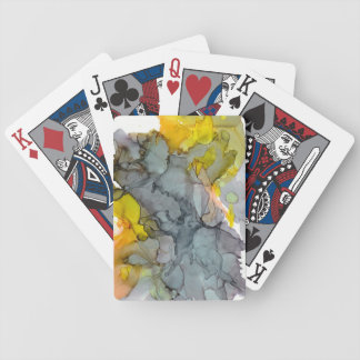 Seaside abstract bicycle playing cards