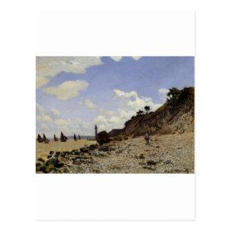 Seaside at Honfleur (1864) Postcard