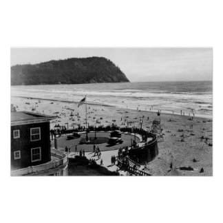 Seaside Beach and Promenade Photograph Poster