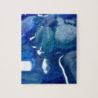 Seaside Blue Sea Glass Jigsaw Puzzle